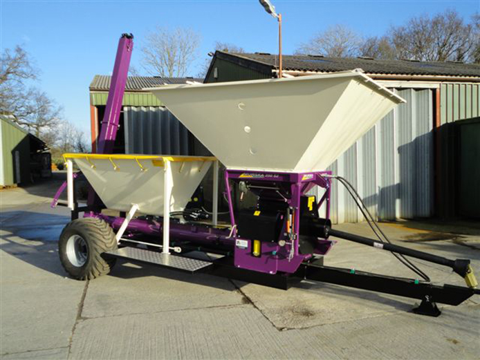 M350 dry grain roller mill & mix machine with protein hopper