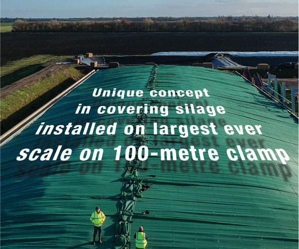 Largest ever silage clamp covering